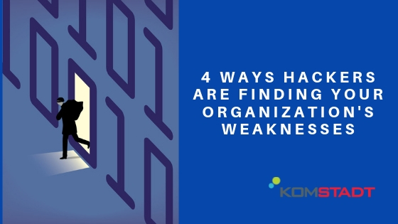 4 Ways Hackers are Finding Your Organization's Weaknesses