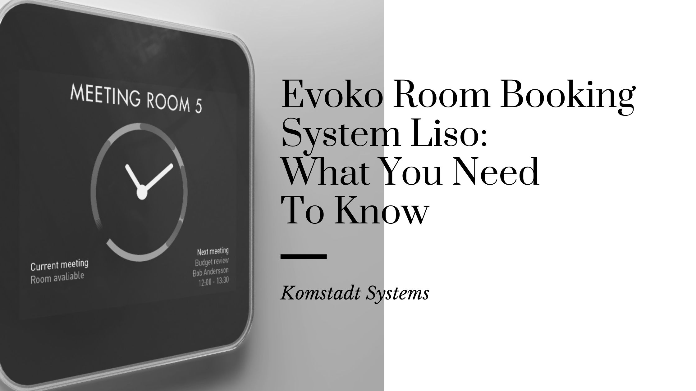 Evoko Room Booking System Liso_ What You Need To Know