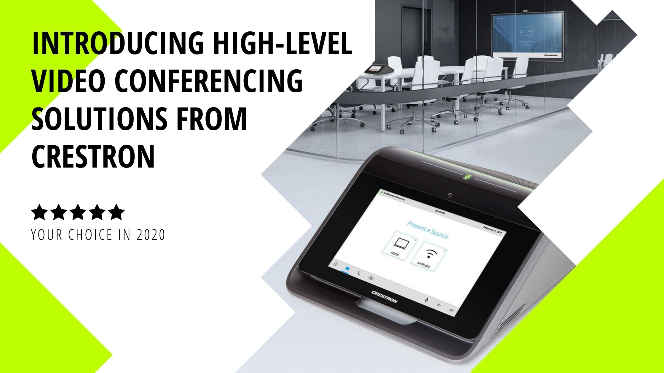 Introducing High-Level Video Conferencing Solutions from Crestron