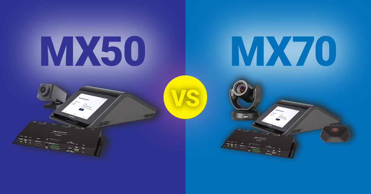 Read more about the article Crestron Product Comparison: the MX50 Versus the MX70 Video Conferencing System