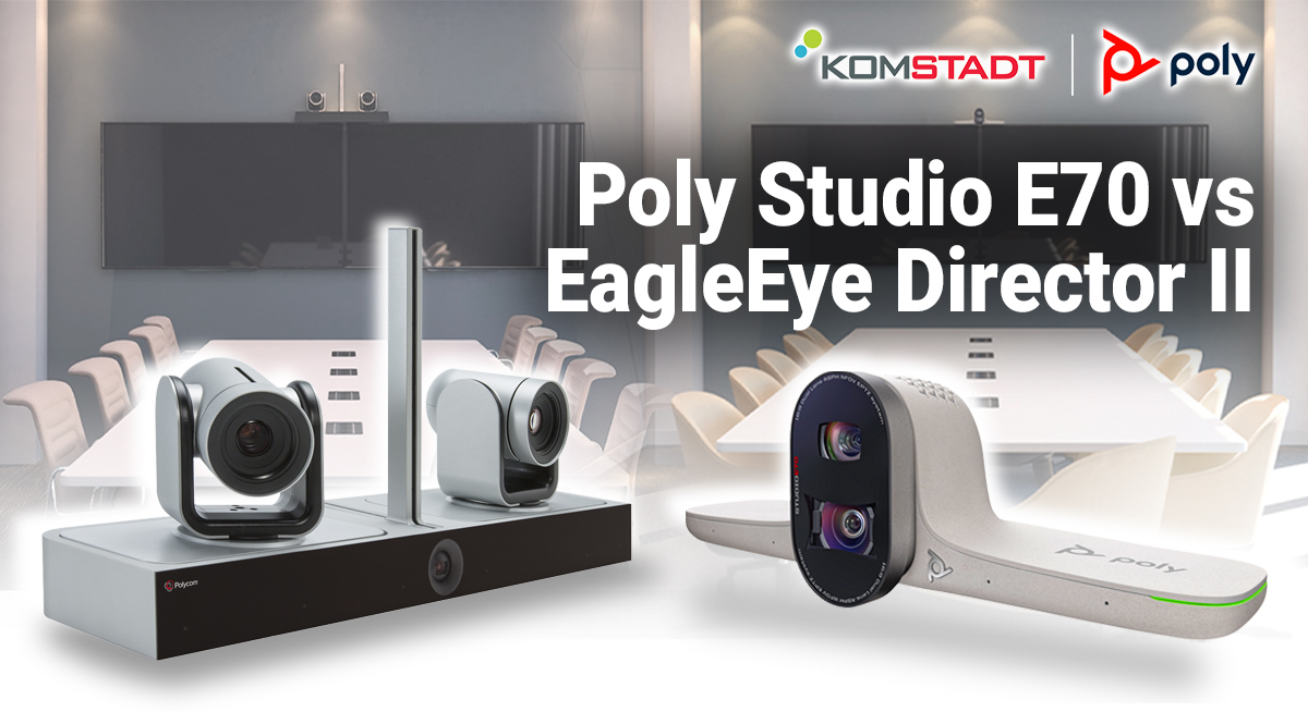 Read more about the article Poly Studio E70 vs EagleEye Director II: Smart Cameras for Large Rooms