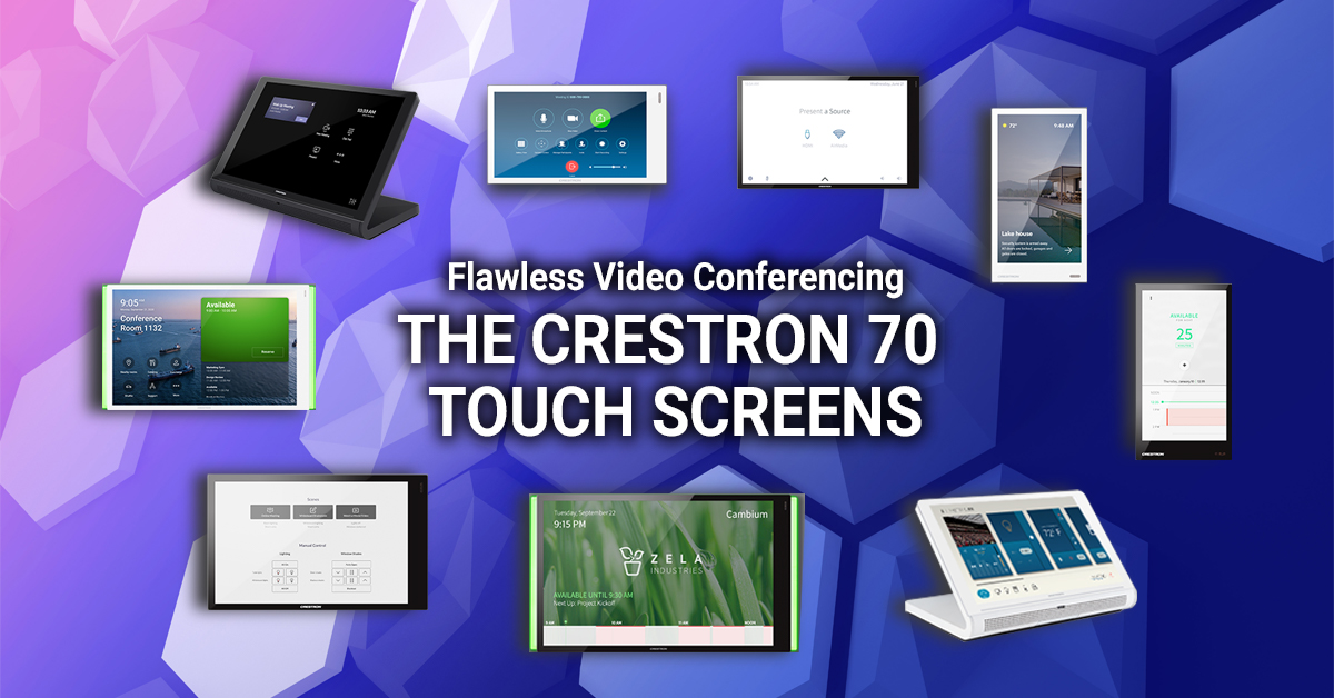 Read more about the article Flawless Video Conferencing Experience – The Crestron 70 Touch Screens