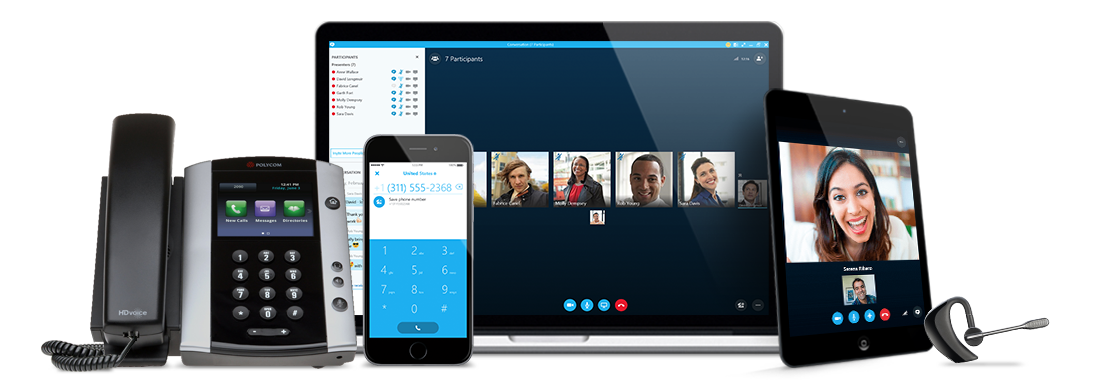 skype for business phone system with conferencing feature